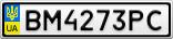 Номерной знак - BM4273PC