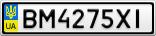 Номерной знак - BM4275XI