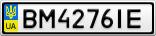 Номерной знак - BM4276IE