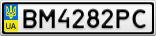Номерной знак - BM4282PC