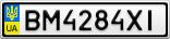 Номерной знак - BM4284XI