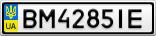 Номерной знак - BM4285IE