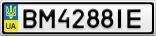 Номерной знак - BM4288IE