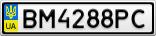 Номерной знак - BM4288PC