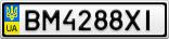 Номерной знак - BM4288XI