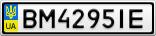 Номерной знак - BM4295IE