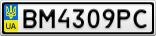 Номерной знак - BM4309PC