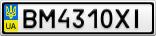 Номерной знак - BM4310XI