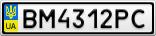 Номерной знак - BM4312PC