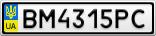 Номерной знак - BM4315PC