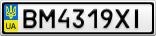 Номерной знак - BM4319XI