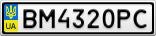 Номерной знак - BM4320PC