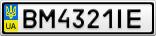 Номерной знак - BM4321IE
