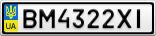 Номерной знак - BM4322XI