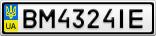 Номерной знак - BM4324IE