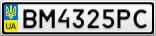 Номерной знак - BM4325PC