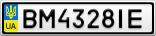 Номерной знак - BM4328IE