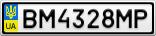Номерной знак - BM4328MP