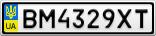 Номерной знак - BM4329XT
