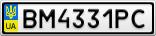 Номерной знак - BM4331PC