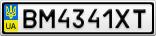 Номерной знак - BM4341XT
