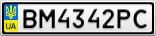 Номерной знак - BM4342PC