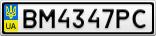 Номерной знак - BM4347PC