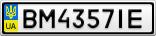 Номерной знак - BM4357IE