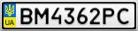 Номерной знак - BM4362PC