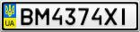 Номерной знак - BM4374XI