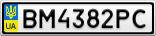 Номерной знак - BM4382PC