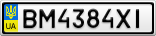 Номерной знак - BM4384XI