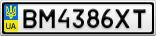 Номерной знак - BM4386XT