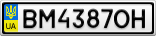 Номерной знак - BM4387OH