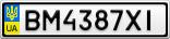 Номерной знак - BM4387XI