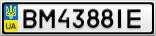 Номерной знак - BM4388IE