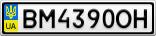 Номерной знак - BM4390OH