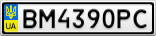 Номерной знак - BM4390PC