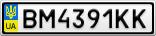 Номерной знак - BM4391KK