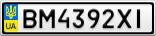 Номерной знак - BM4392XI