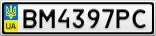 Номерной знак - BM4397PC