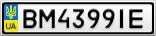 Номерной знак - BM4399IE