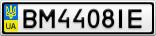Номерной знак - BM4408IE