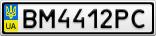 Номерной знак - BM4412PC
