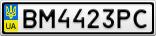 Номерной знак - BM4423PC