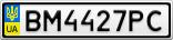 Номерной знак - BM4427PC