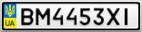 Номерной знак - BM4453XI