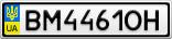 Номерной знак - BM4461OH
