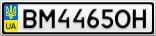 Номерной знак - BM4465OH