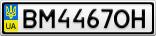 Номерной знак - BM4467OH